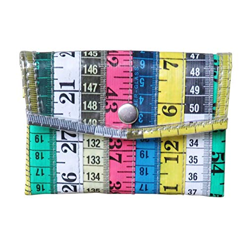 Large Snap Coin Purse Made From Measuring Tape - Gifts for knitter sewer fashion designer clothing design student-teacher sewing hobby tapes measure handmade art bag wallet coiner pouch box prime