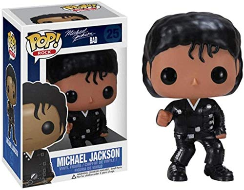 Pop Michael Jackson Modelo Decoración Coche Juguete Muñeca Adornos Artesanía Mini Regalos Navideños (10 CM)-re