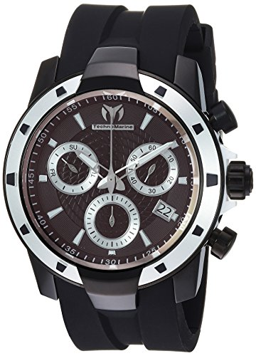 Technomarine Men's UF6 Stainless Steel Quartz Watch with Silicone Strap, Black, 28 (Model: TM-615007)