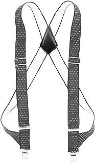 ガンサスペンダー Hoomoi ホルスターサスペンダー メンズ コードバンタイプフェイクレザー カジュアル 25mm