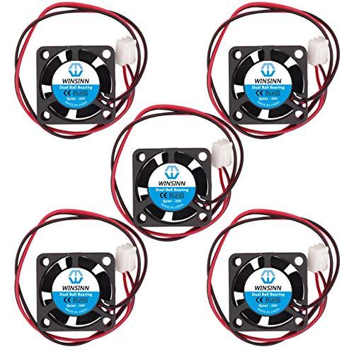 Winsinn 25 mm Lüfter 5 V 12 V 24 V leise bürstenlos 2510 25 x 10 mm für DIY Mini Kühlung PCB/Notebook/Grafikkarte Leise - 2510 24 V