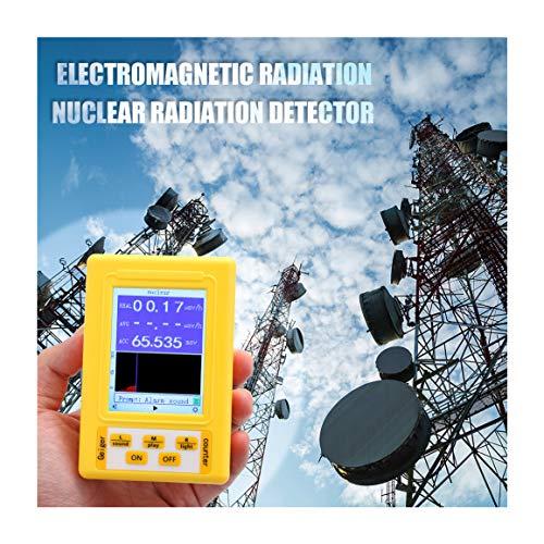 SYXZ 2-in-1 tragbares tragbares digitales EMF-Messgerät, Geigerzähler für elektromagnetische Strahlung, Kernstrahlungsdetektor,Gelb