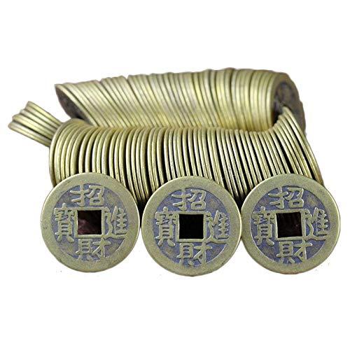 LAOJUNLU Antike Kupfermünzen, quadratische Löcher, Geld, Film- und TV-Requisiten Chinesischer traditioneller Stilschmuck