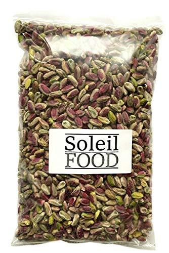 0,5 kg Pistazien ungesalzen geschält ohne Schale Pistazienkerne aus Griechenland feinste Qualität Soleilfood 500 Gramm GMO frei