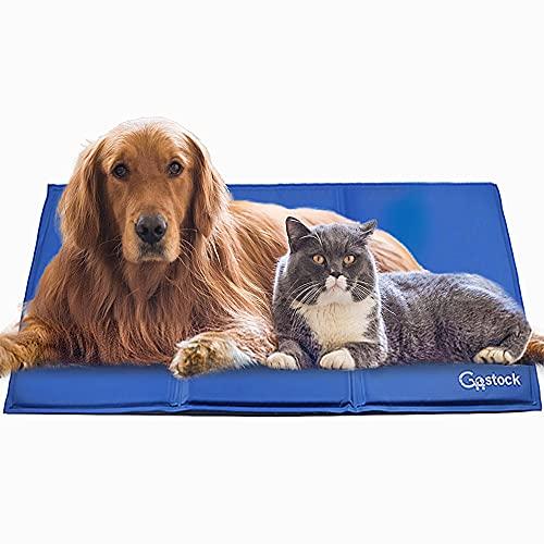 Alfombra Refrescante para Perro, GoStock Alfombrilla de Enfriamiento para Mascotas, Alfombrilla de Refrigeración Automática Manta Refrigerante Estera de Enfriamiento para el Verano (XXL-120*80cm)
