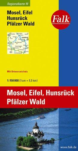 Falk Regionalkarte Rhein-Main - Saarland - Koblenz 1:150 000 Mosel, Pfalz, Eifel