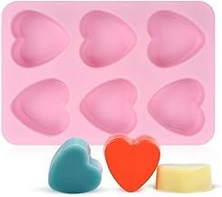 UG LAND INDIA 6 Cavity Silicone Soap Molds Heart Shaped Silicone Baking Mold Cake Mold Ice Cube Tray for Chocolate Muffine...