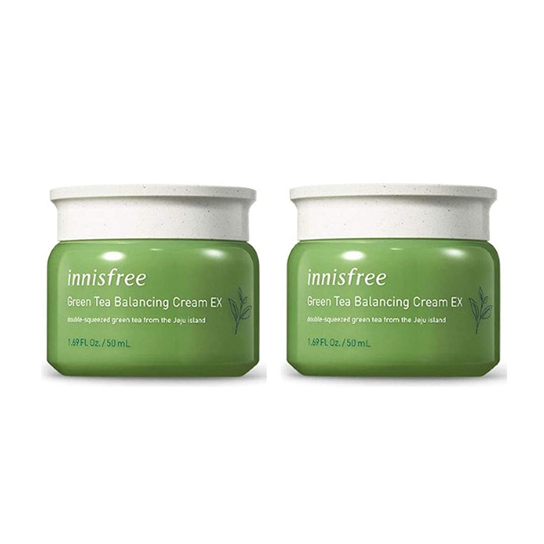 不毛強打敬意を表してイニスフリーグリーンティーバランシングクリームEX 50mlx2本セット韓国コスメ、innisfree Green Tea Balancing Cream EX 50ml x 2ea Set Korean Cosmetics [並行輸入品]