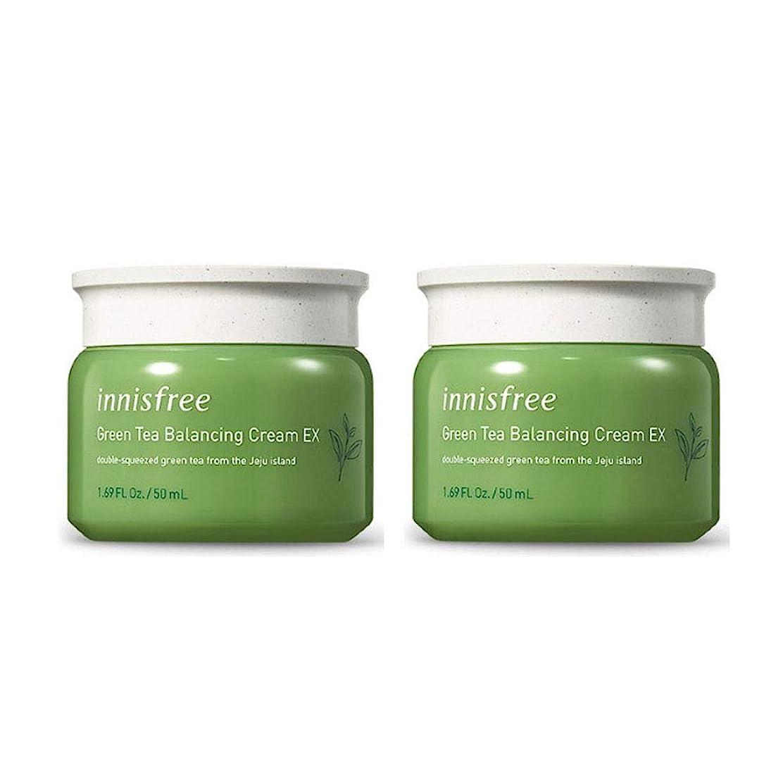 デジタルお金ペナルティイニスフリーグリーンティーバランシングクリームEX 50mlx2本セット韓国コスメ、innisfree Green Tea Balancing Cream EX 50ml x 2ea Set Korean Cosmetics [並行輸入品]