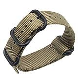 Une pièce de Style NATO 20mm Hommes Exquis de de Couleur Kaki en Nylon de Bracelets...