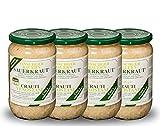 4 vasetti di Crauti Venostani Gustos, 700 g ciascuno, i crauti originali della Val Venosta cotti e aromatizzati come da ricetta originale