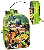 alles-meine.de GmbH 3D Effekt ! __ großer Rucksack - Teenage Mutant Ninja Turtles - inkl. Name -...