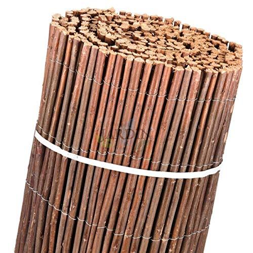 Suinga. Clôture en osier naturel grain 2 x 5 m, pour occultation, ombrage ou délimitation de différentes zones dans notre environnement.