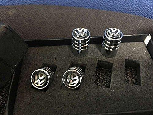 4pcs VA036 Chrome Car Styling Accessories Wheel Tire Valve Caps Stem Air For Black VW Volkswagen B5 B6 MK4 MK5 MK6 Golf Polo PASSAT SAGITAR Jetta CC MAGOTAN Scirocco