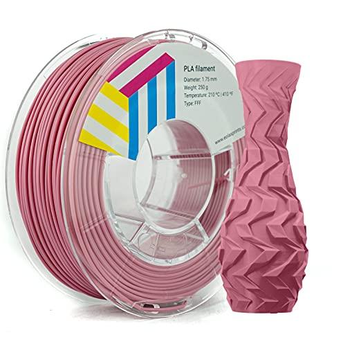 Eolas Prints   Filamento PLA 1.75   Impresora 3D   Fabricado en España   Apto para uso alimentario y crear juguetes y envases   1,75mm   250gr   Rosa