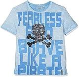 SALT AND PEPPER Jungen Pirates Wendepaillette T-Shirt, Blau (Sky Blue 439), 116
