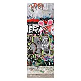 wandmotiv24 Türtapete Graffiti 3 70 x 200cm (B x H) - Papier Tapete, Tür-Aufkleber, Türbild, Wandbild M0027