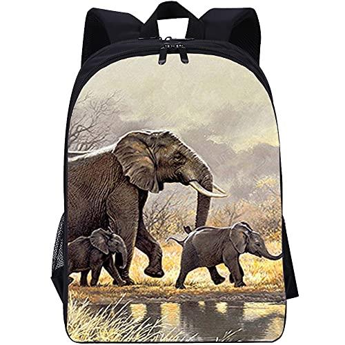 ZFWEI Mochila casual Elefante Mochila para equipaje de mano con compartimento para portátil de 16 pulgadas, mochila de moda en look melange