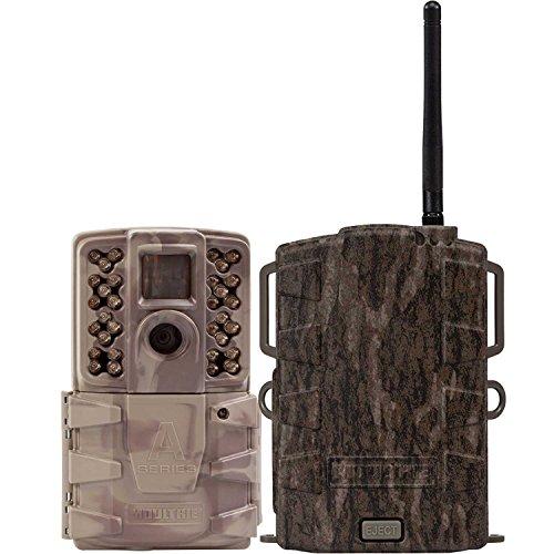 Moultrie A30i 12MP 60' HD Video NoGlow IR Game Trail Camera + Mobile Field Modem
