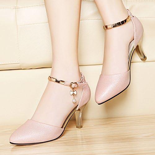 RUGAI-UE Poisson Bouche Chaussures Femmes Sandales Filles d'été Noir,40