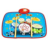 Bambiya Electronic Drum Pad Machine for Kids - Touch-Sensitive Toy Electronic Drum Set for Kids with 8 Drumming Areas, 2 Play Modes and Adjustable Volume. ASTM Certified