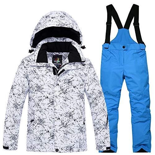 RLJZID Kinder Ski Suit Set Dikke Waterdichte Jas Apparatuur Winter Warm Kleding Broek