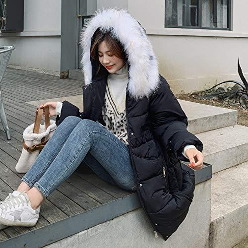 WFSDKN Damesjas, 2019, nieuw donsjack, lange gedeelte, dikke knie, afneembare bontkraag, hoodie