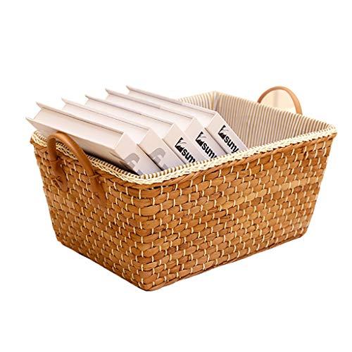 Storage Box Boîte De Rangement, Panier De Rangement De Bureau, Série De Rangement Intérieur pour Le Bureau, Matériel De Sécurité 100% (Color : Yellow, Size : 30cm*34cm*23.5cm)