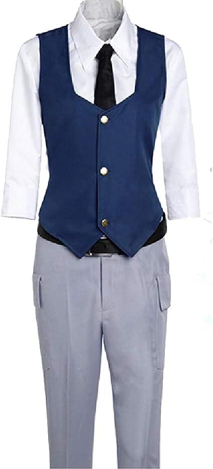 YKJ Disfraz de Cosplay de Anime Chaqueta Azul Camisa Blanca y ...