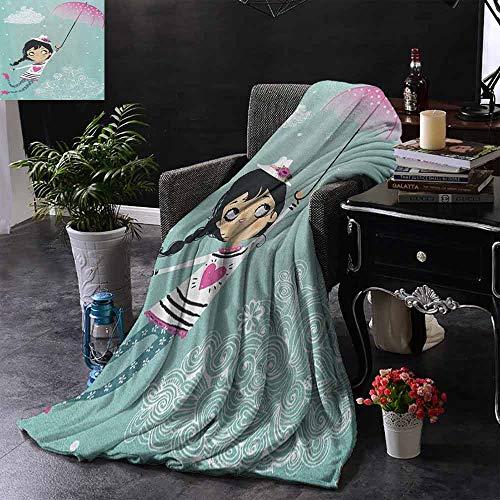 ZSUO bont gooien deken cosmetische en make-up thema patroon met parfum lippenstift nagellak borstel moderne Lad gewogen voor volwassenen kinderen, beter diepere slaap