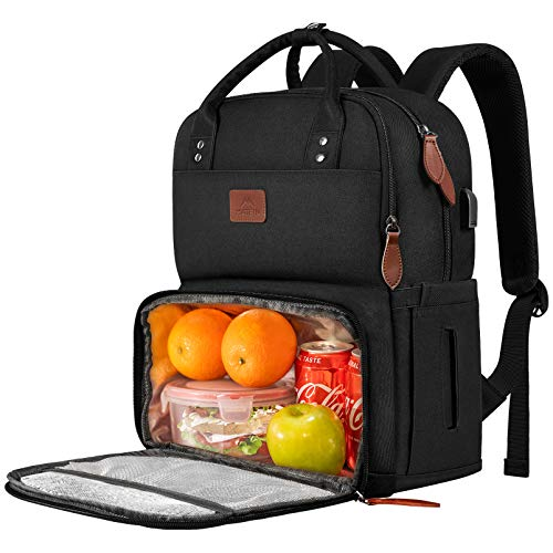 Lunch Backpack for Women, Insulated Cooler Backpacks with USB Port,...