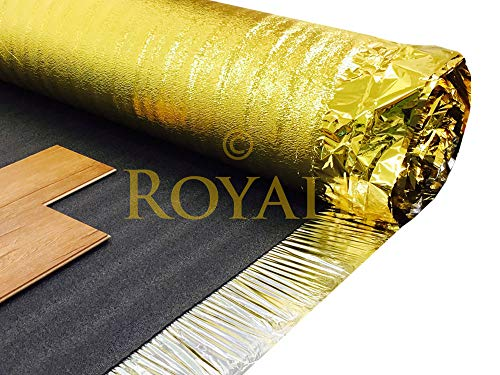 30m² Deal - Royale Sonic Gold 5mm Comfort Underlay for Laminate or Wood Flooring - 2 Roll - 30m²