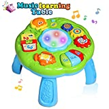 HOMOFY Baby Toys Musical Learning Table 18 Months Up- Early Education Activity Center Multiple Modes Game Kids Toddler Boys & Girls Toys for 2 3 4 Years Old