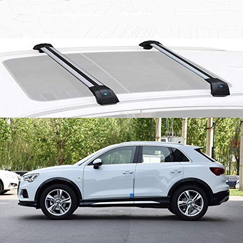 Mmhot Custom Fit for Q3 aleación de Aluminio de Barras de Techo de la Barra Cruzada del Techo de Carga de Coches Bares Barras de Techo Barras for la Q3 2013-19 (Size : For Audi Q3 2019)