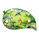 Elobra Deckenleuchte Tiere 'Blatt Wildnis' | Tolle Wandlampe oder Deckenlampe für das Kinderzimmer, Lampe Dschungel, grün, Blatt-Design, aus Echtholz, Made in Germany