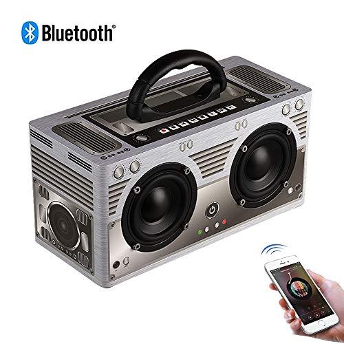 Speaker-EJOYDUTY 20W draadloze Travel Stereo Bluetooth-luidspreker, bewegende TF-kaart, AUX-ingang luidspreker, 8 uur muziekweergave