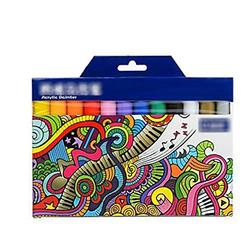 FKLMRKL DIY Album Graffiti Marker 24.12 Farbe, Buntstift, Acryl Filzstift für Malerei Markierungen,12
