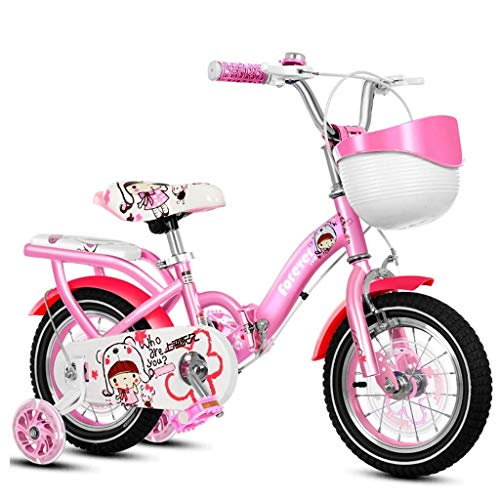 Best Buy! Children's Bicycle Folding Children's Bicycle Girl Princess Bicycle Training Wheel Water B...
