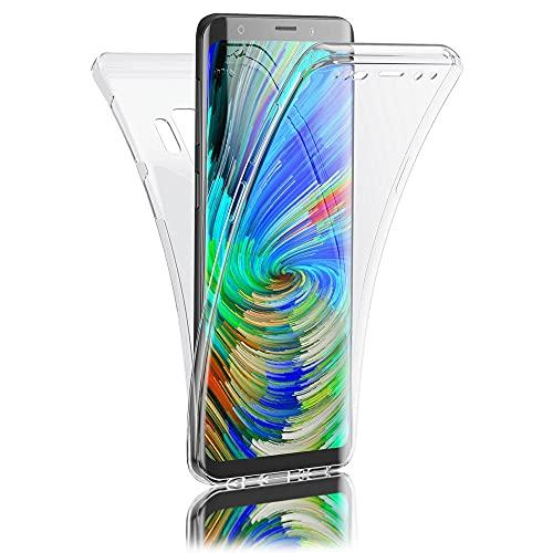 Kaliroo 360° Schutzhülle Klar kompatibel mit Samsung Galaxy S9 Plus Hülle, Transparente Silikon R&um Handyhülle Full-Body Hülle Slim Cover, Dünne Handy-Tasche Etui Vorne und Hinten Komplett-Schutz