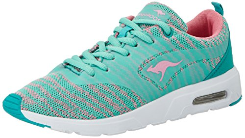 KangaROOS Damen KangaCore 2106 K Sneaker, Grün (Misty Jade/Rose), 38 EU
