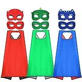 Tacobear Superhelden Cosplay Kostüme für Kinder inklusive 3Stk. Superhelden Umhang und 6Stk....