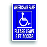 Solar Graphics USA Handicap Decal - Wheelchair Ramp 8 Ft for Handicapped Van, Bus, Vehicle with Disability Wheelchair Lift - 4 x6 inch
