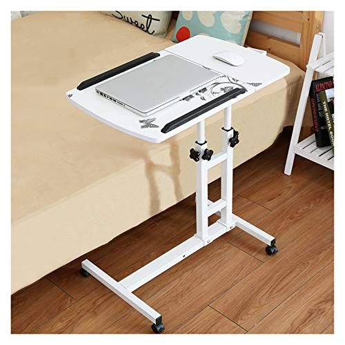 Side Table Mobile Table Workstation Foldable Computer Laptop Table Adjustable Portable Desk Stand For Bed Can Be Lifted Standing Desk W/Mouse-Pad Bedroom Furniture Portable Side Table