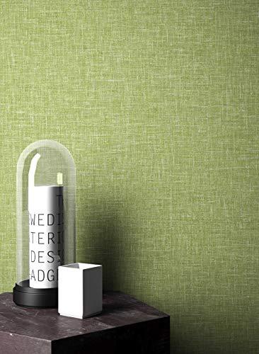NEWROOM Tapete grafisch grün Unifarbe Struktur Retro Papiertapete Papier Tapete Einfarbig Unifarben Natur inkl. Tapezier Ratgeber ǀ Grafik