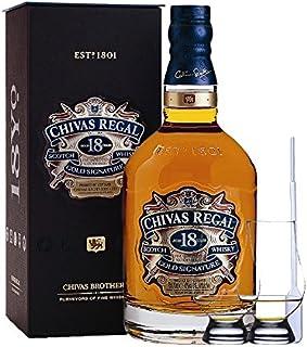 Chivas Regal 18 Jahre Gold Signature Blended Scotch Whisky 0,7 Liter  2 Glencairn Gläser  Einwegpipette 1 Stück