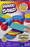 Kinetic Sand Rainbow Mix Set with 3 Colours of Kinetic Sand (382g) and 6 Tools, for Kids Aged 3 and Up (Styles Vary)
