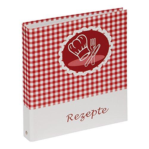 Rezeptringbuch Kochmütze (Kochbuch zum Selberschreiben, A5, 4-Ring) rot-weiß