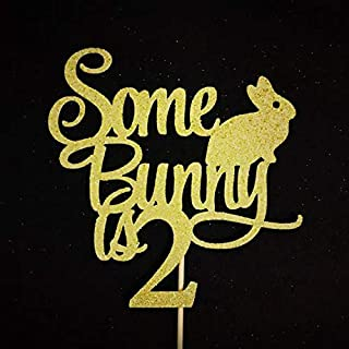 Some Bunny is Two Cake Topper, Bunny Two Cake Topper, Some Bunny is Turning Two Cake Topper