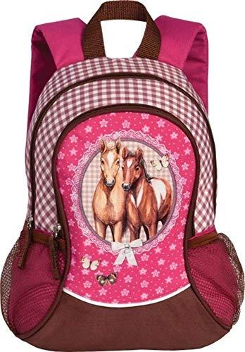 Kinderrucksack Kindergartenrucksack Lizenz Rucksäcke verschiedene Motive wählbar - Kindergarten oder Kita (Pferde)