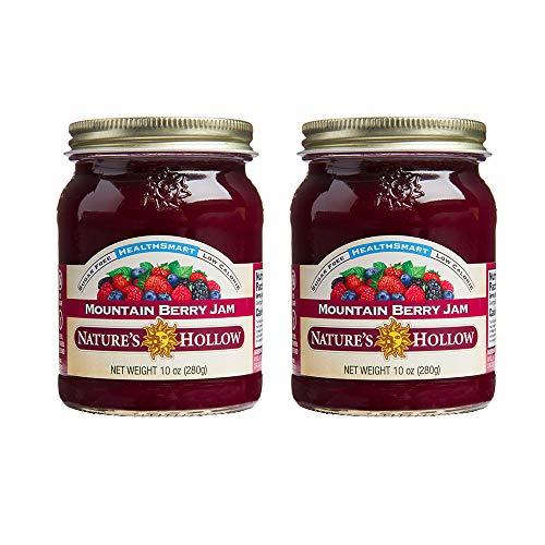 Nature's Hollow, Sugar-Free Mountain Berry Jam Preserves, 10 Ounces, Non GMO, Keto Friendly, Vegan and Gluten Free - 2 Pack